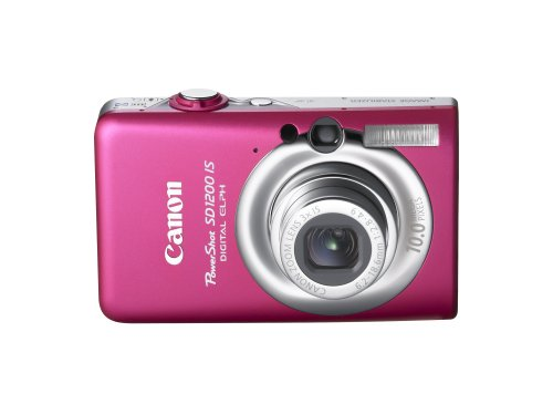 The Electronics World |   Canon PowerShot SD1200IS 10 MP Digital Camera with 3x Optical Image Stabilized Zoom and 2.5-inch LCD (Pink/Red)