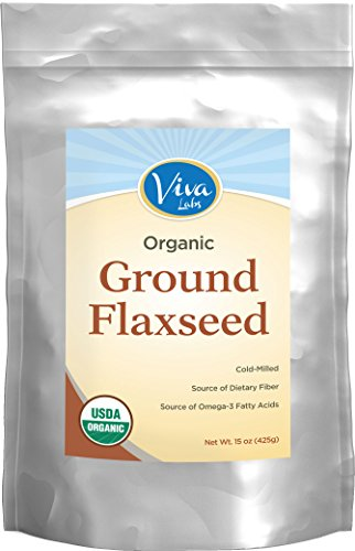 Viva Labs - The BEST Organic Ground Flax Seed, Proprietary Cold-milled Technology, 15 oz
