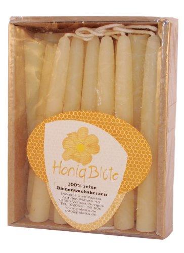 Palettas Christbaumkerzen 100% reines weißes Bienenwachs Kerze 20 Stück im Karton
