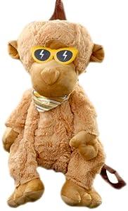 Play n Pets PNP-3560LB Monkey Back Pack 40cm, Brown