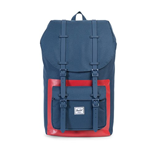 Herschel - Zaino Little America Classics Backpack - Navy Red/Block Print