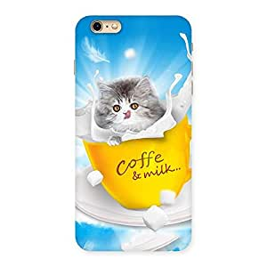 Kitty Coffee Multicolor Back Case Cover for iPhone 6 Plus 6S Plus