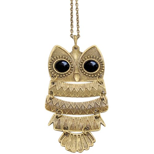 41CECbtDKOL Vintage Owl Charm Necklaces: As Low as $1.13 Shipped (Great Gift Ideas)!