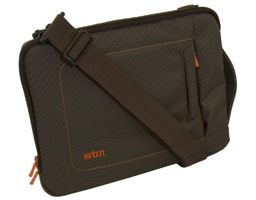 STM Bags dp-2140-2 Jacket Extra Small Sleeve, Fits Most 11-Inch Screens, Chocolate/Orange