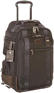 Tumi Alpha Bravo Peterson Wheeled Backpack, Hickory (Black) - 222473 by Tumi