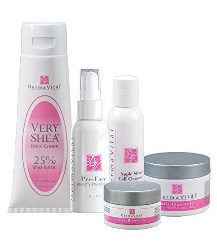 DermaVital Ultimate Beauty Regimen - Complete Skincare Line to REDUCE WRINKLES - from the Makers of DermaWand (Dermawand Cream compare prices)