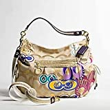 Coach Signature Applique Jazzy Shoulder Hobo Bag Handbag Purse 15311 Multi