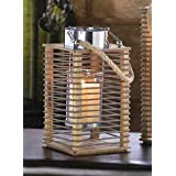 12 Modern IKEA STYLE Wire Wood Hurricane Garden Wedding Lantern Candle Holder