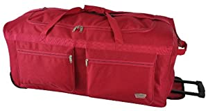 5 Cities Extra Large 34 Inch Wheeled Holdall Bag 865x38x39cm 350kg 128l Red - Right Size Right Weight Right Price - Luggagetravelbags