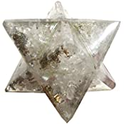Orgone Crystal Chips Merkaba Star Large Crystal Sacred Geometry Reiki Point 8 Healing