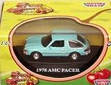 Motormax Fresh Cherries 1978 AMC Pacer Aqua HO Scale Train or Diorama