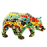 Barcino Mosaic Bear 10cm Multicoloured