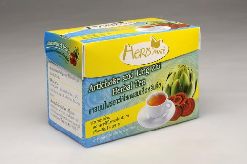 Artichoke And Reishi Tea Box With 30 Tea Bags For 1 Month Supply