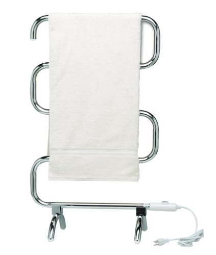 Warmrails Heatra Classic Freestanding Towel Warmer and Drying Rack, Chrome