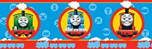 Fun4Walls BO05627 - Cenefa adhesiva (5 m x 18 cm), diseño de tren Thomas y sus amigos de Fine Décor - BebeHogar.com