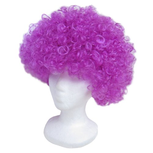 SeasonsTrading Economy Purple Afro Wig ~ Halloween Costume Party Wig (STC13045)