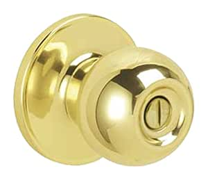 Dexter by Schlage J40CNA605 Corona Bed and Bath Knob, Bright Brass