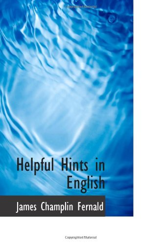 Helpful Hints in English