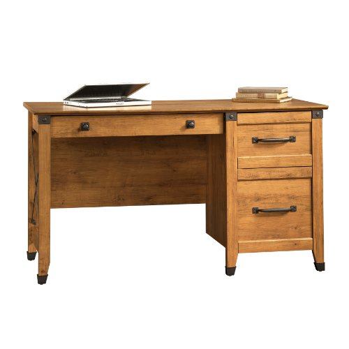 Best Deals Sauder Registry Row Desk Amber Pine Maryd Batz