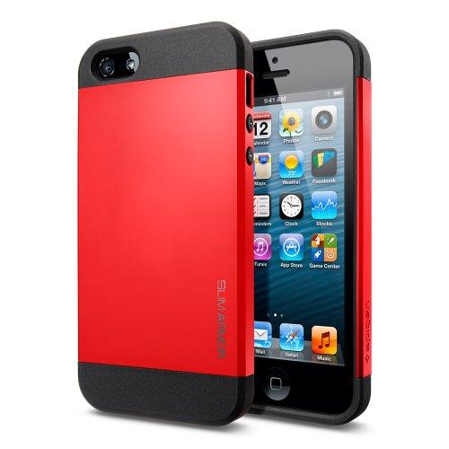国内正規品SPIGEN SGP iPhone5/5S ケース スリム アーマー [クリムゾン レッド] SGP10100