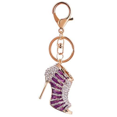 1pc-rhinestone-high-heel-pendant-charm-keyring-keychain-with-lobster-clasp