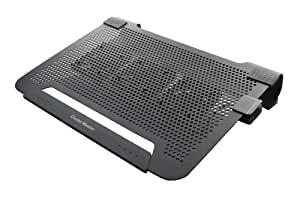 """Cooler Master R9-NBC-8PCK-GP Notepal U3 Refroidisseur pour PC Portable jusqu'à 19"""" 3 Ventilateurs 8 cm interchangeable Noir"""
