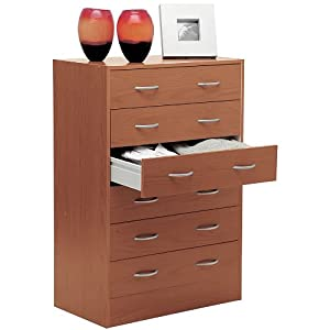 Com cassettiera settimino kit moderno legno ciliegio for Cassettiera amazon