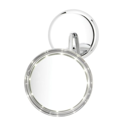 Danielle L.E.D. Goose-Neck 3-In-1 5X Magnification Vanity Mirror, Chrome front-522446