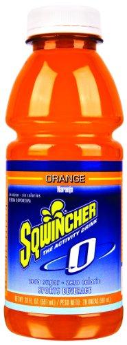 Sqwincher 030801-Or 20 Oz Zero Sugar Free Wide Mouth Ready To Drink Bottle, Orange Flavor (Case Of 24)