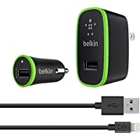 Belkin 4' Micro Wall & Car Lightning Charger Kit (Black)