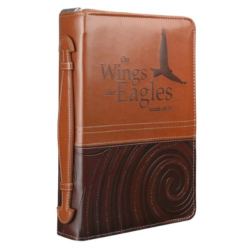 """On Wings Like Eagles"" Two-Tone Bible / Book Cover - Isaiah 40:31 (Large)"