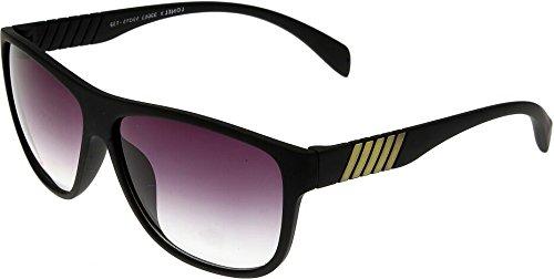 Elijaah Black Large UnisexOval Sunglasses 39063_mattblack_Y