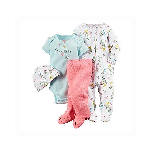 Carter's Baby Girls' 4 Piece Layette Set (Baby) - Floral - Newborn