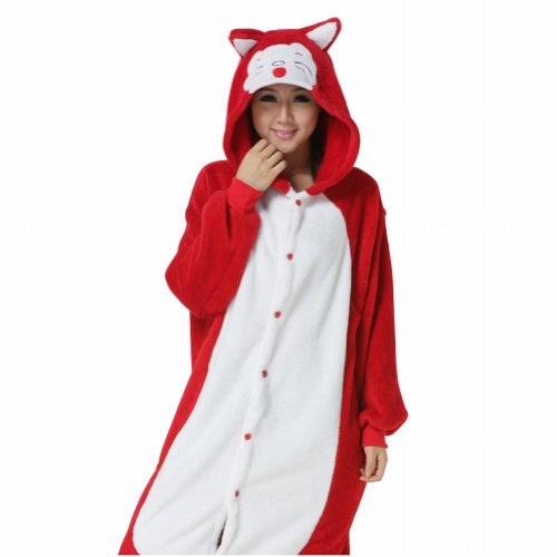 Ferrand Kigurumi Pajamas Unisex Adult Cosplay Costume Animal Pyjamas Red Fox XL