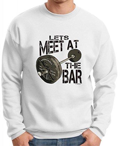 Let'S Meet At The Bar Premium Crewneck Sweatshirt Medium White
