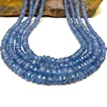 Sapphire Necklace 03 Multi-strand Blue 4 Layer Gemstone Faceted Crystal Healing 17