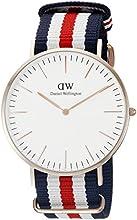 Comprar Daniel Wellington 0102DW - Reloj con correa de acero para hombre, color blanco / gris