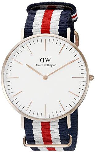 Daniel-Wellington-Herren-Armbanduhr-Analog-Quarz-Textil-DW00100002