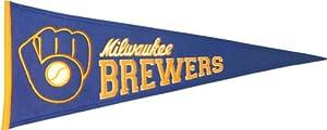 Milwaukee Brewers Cooperstown Pennant by Winning Streak