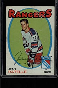Amazon.com: JEAN RATELLE RANGERS 1971-72 TOPPS CARD#97 SIGNED CARD ID