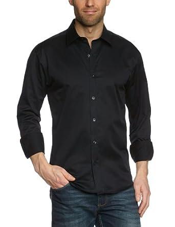 SELECTED HOMME Herren Freizeithemd Slim Fit 16016583 One Pelle Caracas, Gr. 46 (S), Schwarz (Black)