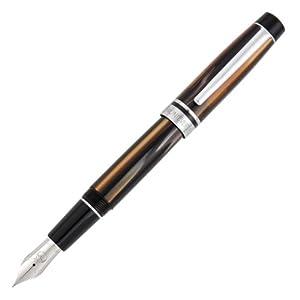 Monteverde Prima Fountain Pen Brown Stripe Fine Nib (MV26881F)