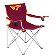 NCAA VA Tech Hokies Deluxe Folding Chair by Logo