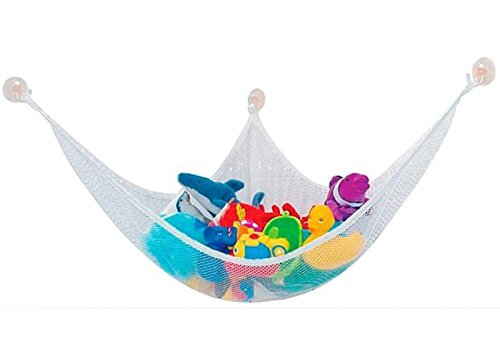 Virtual Store USA Stuffed Animal Toy Storage Small Net Hammock - Satisfaction Guaranteed - White Color - 1