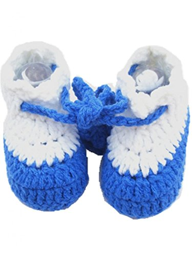 Soyagift Crochet Knit wool shoes with bandage Design Infant soft-soled shoes