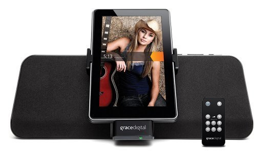 Grace Digital Matchstick For Kindle Fire With Charging Speaker Dock Features A Built-In Speaker And Amplifier With Adjustable Portrait And Landscape Modes, Bonus Aux-In Cable Included