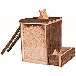 Trixie |Natural Living Spiel- und Buddelturm, 25 × 24 × 20 cm