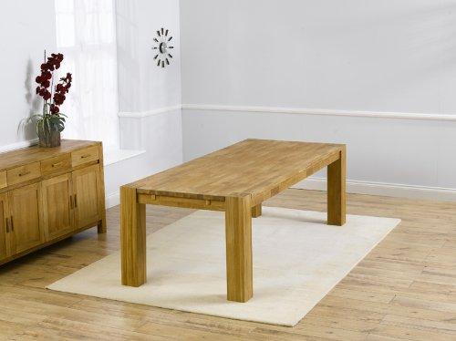 Elegant Venice solid oak furniture large seater extending dining table