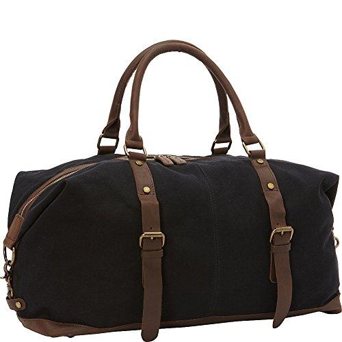 vagabond-traveler-classic-antique-style-cotton-canvas-medium-duffle-bag-black