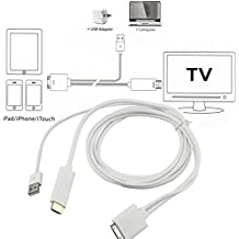 Alcoa Prime 1pc Dock To HDMI HDTV TV ADAPTER USB CABLE For Apple For IPhone 4 4S For IPodHot Wholesale